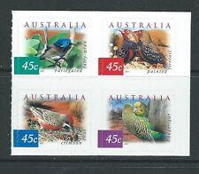 AUSTRALIE 2001 désert oiseaux bloc de 4 adhésif EX LIVRET Non montés