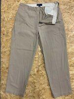 Men's Polo Ralph Lauren Chinos Khaki Beige Philip Pant Trousers W38 L32 Zip Fly