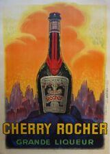 Cherry Rocher Grande Liqueur, France, 1922, 250gsm A3 Art Deco Poster