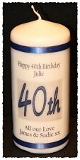 40th Birthday candle personalised gift  40 #6