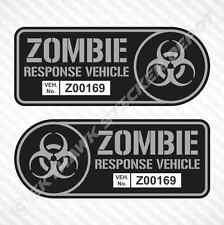 Zombie Response Vehicle Sticker Set Vinyl Decal Gun Metal Walking Dead Truck JDM