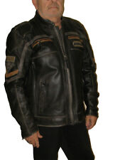 BLOUSON MOTO HIVER CUIR HARLEY DAVIDSON TAILLE XL