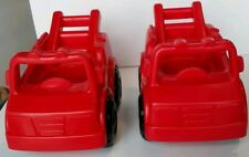 Fisher Price Little People 2000 Red FIRE TRUCK Firefighter lot of 2