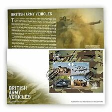 More details for british army vehicles stamp miniature sheet first day cover 2021