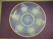 Ezan France Art Deco Frosted Glass Bowl -- Roses
