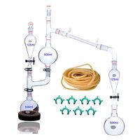 25 Pcs Neu Lab ätherisches Öle Destille Gerät Glaswaren w/24/40 Gelenk