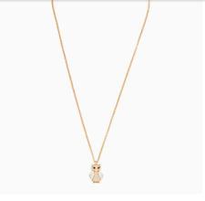 NWT KATE SPADE Owl Mini Pendant NECKLACE W DUST BAG O0RU2608