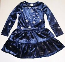 Gymboree 5t Navy Blue Star Velour Dress New With Tags