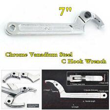 "Motorcycle Adjustable Hook Wrench C Spanner 7"" 19-51mm Chrome Vanadium Steel"