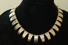 Vintage CII Mexico 925 Sterling Silver Signed Necklace/Women's Jewelry 67 grams