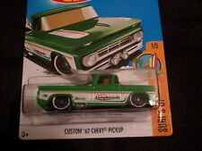 HW HOT WHEELS 2017 HW SURF'S UP #1/5 CUSTOM '62 CHEVY PICKUP GRN HOTWHEELS VHTF