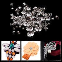 Sew On Diamond Diamante Rhinestone Silver Base Clear Crystal Gems Dress Making
