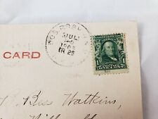 C 1905 Plymouth Rock Canopy Coles Hill MA UDB Franklin #300 Error Stamp Postcard