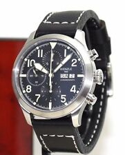 KIENZLE Aerotool ETA 7750 Automatik Chronograph Herrenuhr Leder Armband 5 BarW.R