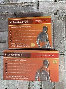Body Comfort Heat Packs - Extra Wide Neck  Shoulder pack & 6 Piece Sports Pack