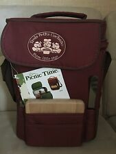 BNWT Picnic Time Wine & Cheese Tote/Cooler & Accessories - Red Clay