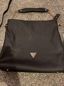 Guess Destiny Hobo Black Shoulder Bag
