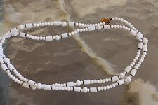 Vintage Miriam Haskell 1950-51 White /Milk' Glass Bead, Single Strand Necklace
