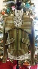 L.A.M.B. Green Wool Club Jacket Gwen Stefani SZ 8