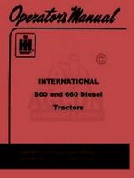 INTERNATIONAL FARMALL 660 Operators Instruction Manual