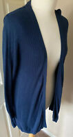 Monsoon Size Small 8/10 Blue Long Wrap Cardihan Cup Out Detail