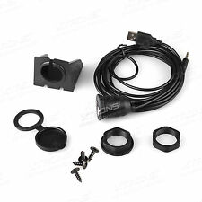 2m 3.5mm Car Dashboard Flush Mount USB 2.0 AUX Socket Extension Lead Panel Cable