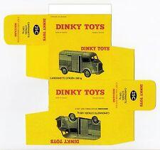 Boîte copie repro Dinky Toys 25C CAMIONNETTE CITROEN 1200 kg H ( box vide )