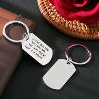 """Stainless Steel Couple Key Ring """"I Love You For Who You Are """"Keychain Keyring"""