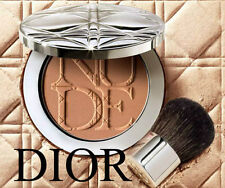 100% AUTHENTIC DIOR COUTURE DIORSKIN NUDE TAN GLOW SUN POWDER & KABUKI BRUSH 002