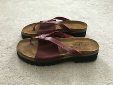Naot Women's Orion Red Thong Slide Cork Footbed Sandal Size 6 Mint!!!!