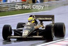 Ayrton Senna JPS Lotus 97T Winner Portugal Grand Prix 1985 Photograph 1