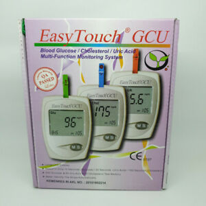 Easy Touch GCU 3 In 1 Blood Test Tool (Cholesterol, Uric Acid & Blood Sugar)