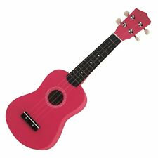 NEW Sanchez Soprano Ukulele 4 String Beginner Kids Uke (Hot Pink)