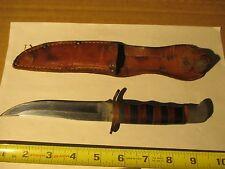 Vintage Bowie Valor Knife & Boy Scout Leather Sheath