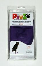 Protex PawZ Rubber Dog Boots, Purple (Large)