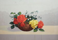 STILL LIFE WITH FLOWERS GOUACHE PAINTING