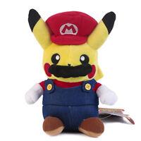 Pokemon Center Pikachu Plushie Super Mario Plush Doll Figure Toy 9 inch US Ship