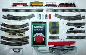 """Fleischmann Piccolo N """" 9391 Start Set Güterzug mit Dampflokomotive """" Top Set"""