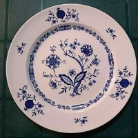"Christina Porcelain Dresden Classic Blue & White Dinner Plate 10 3/4"" wide"