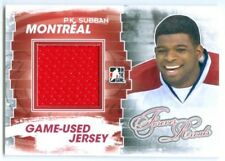 """P.K. SUBBAN """"RED GAME USED JERSEY CARD"""" FOREVER RIVALS CANADIENS"""