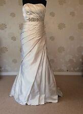 Victoria Jane For Ronald Joyce Oyster Matt Satin Wedding Dress Uk16