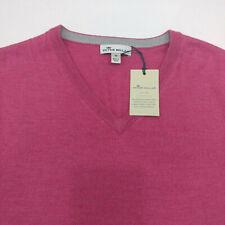 $130 Peter Millar Crown Sport Merino Wool Silk V-neck Sweater Vest Size M