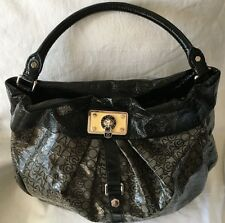Marc by Marc Jacobs Grey/Black Jelly Jacquard Lil Riz Hillier Hobo Handbag Purse