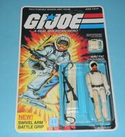 *RECARDED* 1983 GI Joe Snow Job v1 Figure Complete Sealed *CUSTOM File Card Back