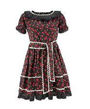 Death Kitty Black/Red Cherry Frill Summer Dress Goth/Lolita/Dolly/Cute/Kawaii M