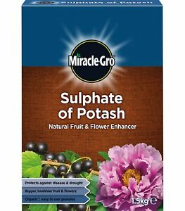 Miracle Gro Sulphate of Potash 1.5 kg Fuit & Flower Enhancer Growing Plant Food