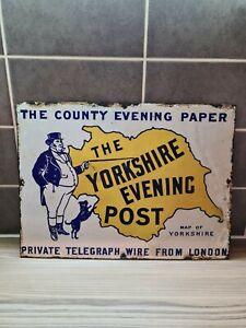 Original vintage enamel advertising signs