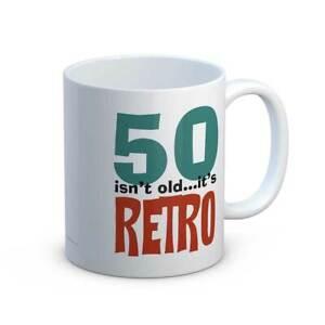 50 Isn't Old It's Retro Fun 50th Birthday Gift Mug For A 50 Year Old
