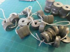 """Lot of 14 Knurl Sets Reed, Armstrong, B&S & Form Rool Tools 1/4"""" ID 3/4"""" OD +20"""