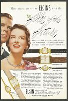 ELGIN Flair of the Future watches.- Durapower -  1950 Vintage Nat Geo Print Ad